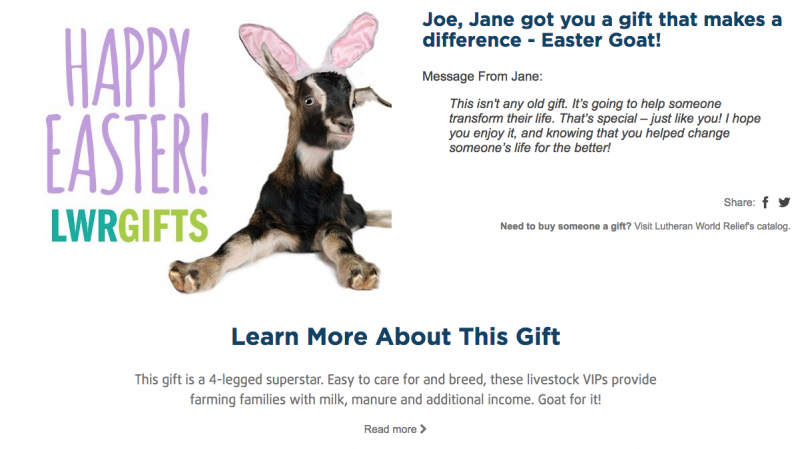 Easter Goat ecard preview